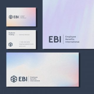 EBI helps their partner companies thrive through honest and dependable employee benefits. We designed this logo concept and identity as shield of protection that symbolizes strength, growth and transparency.